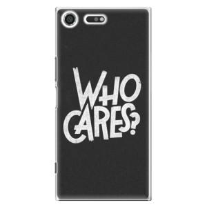 Plastové pouzdro iSaprio Who Cares na mobil Sony Xperia XZ Premium