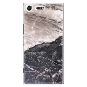 Plastové pouzdro iSaprio BW Mramor na mobil Sony Xperia XZ Premium