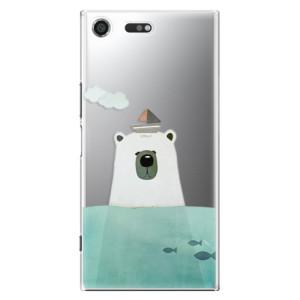 Plastové pouzdro iSaprio Bear With Boat na mobil Sony Xperia XZ Premium