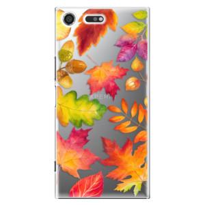 Plastové pouzdro iSaprio Autumn Leaves 01 na mobil Sony Xperia XZ Premium