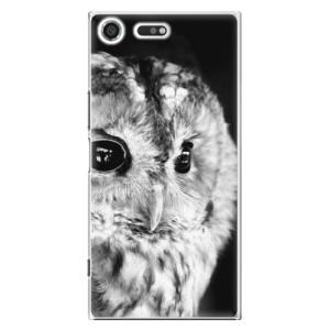 Plastové pouzdro iSaprio BW Sova na mobil Sony Xperia XZ Premium