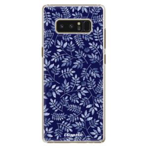Plastové pouzdro iSaprio Blue Leaves 05 na mobil Samsung Galaxy Note 8