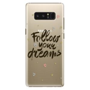 Plastové pouzdro iSaprio Follow Your Dreams černý na mobil Samsung Galaxy Note 8