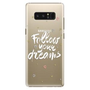 Plastové pouzdro iSaprio Follow Your Dreams bílý na mobil Samsung Galaxy Note 8