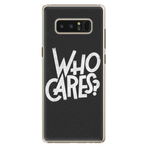 Plastové pouzdro iSaprio Who Cares na mobil Samsung Galaxy Note 8