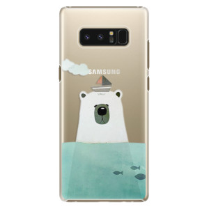 Plastové pouzdro iSaprio Bear With Boat na mobil Samsung Galaxy Note 8