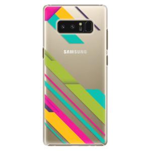 Plastové pouzdro iSaprio Barevné Pruhy 03 na mobil Samsung Galaxy Note 8