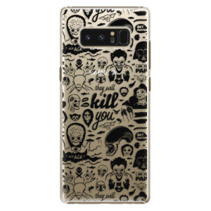 Plastové pouzdro iSaprio Komiks 01 black na mobil Samsung Galaxy Note 8