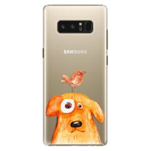 Plastové pouzdro iSaprio Pejsek a Ptáček na mobil Samsung Galaxy Note 8