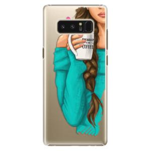 Plastové pouzdro iSaprio Brunetka s kafčem na mobil Samsung Galaxy Note 8