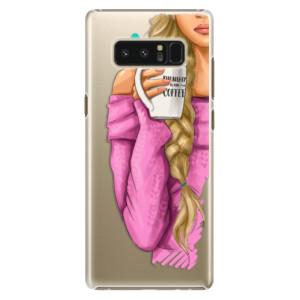 Plastové pouzdro iSaprio Blondýnka s kafčem na mobil Samsung Galaxy Note 8