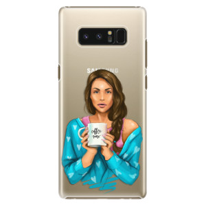 Plastové pouzdro iSaprio Coffee Now Brunetka na mobil Samsung Galaxy Note 8