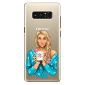 Plastové pouzdro iSaprio Coffee Now Blondýna na mobil Samsung Galaxy Note 8