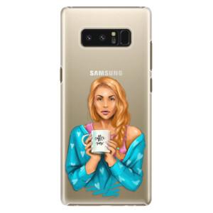 Plastové pouzdro iSaprio Coffee Now Zrzka na mobil Samsung Galaxy Note 8