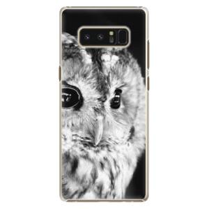 Plastové pouzdro iSaprio BW Sova na mobil Samsung Galaxy Note 8