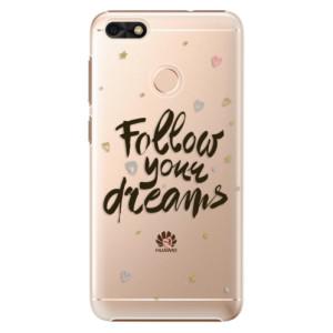 Plastové pouzdro iSaprio Follow Your Dreams černý na mobil Huawei P9 Lite Mini