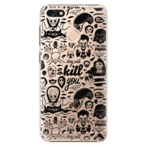 Plastové pouzdro iSaprio Komiks 01 black na mobil Huawei P9 Lite Mini
