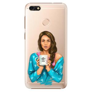 Plastové pouzdro iSaprio Coffee Now Brunetka na mobil Huawei P9 Lite Mini