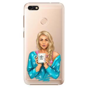 Plastové pouzdro iSaprio Coffee Now Blondýna na mobil Huawei P9 Lite Mini
