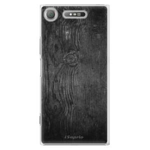 Plastové pouzdro iSaprio black Wood 13 na mobil Sony Xperia XZ1