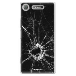 Plastové pouzdro iSaprio Broken Glass 10 na mobil Sony Xperia XZ1