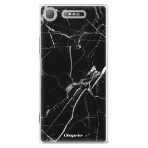 Plastové pouzdro iSaprio black Marble 18 na mobil Sony Xperia XZ1