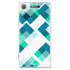Plastové pouzdro iSaprio Abstract Squares 11 na mobil Sony Xperia XZ1