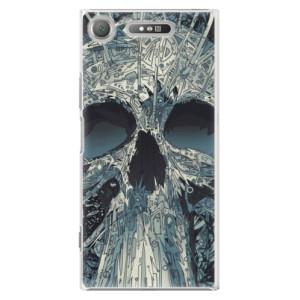Plastové pouzdro iSaprio Abstract Skull na mobil Sony Xperia XZ1