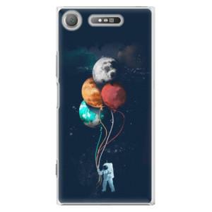 Plastové pouzdro iSaprio Balloons 02 na mobil Sony Xperia XZ1