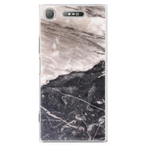 Plastové pouzdro iSaprio BW Mramor na mobil Sony Xperia XZ1