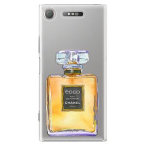 Plastové pouzdro iSaprio Chanel Gold na mobil Sony Xperia XZ1