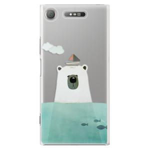 Plastové pouzdro iSaprio Bear With Boat na mobil Sony Xperia XZ1
