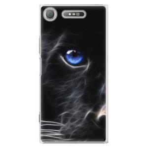 Plastové pouzdro iSaprio black Puma na mobil Sony Xperia XZ1