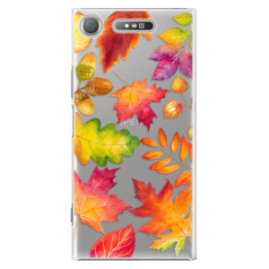 Plastové pouzdro iSaprio Autumn Leaves 01 na mobil Sony Xperia XZ1