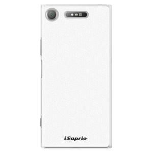 Plastové pouzdro iSaprio 4Pure bílé na mobil Sony Xperia XZ1