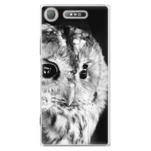 Plastové pouzdro iSaprio BW Sova na mobil Sony Xperia XZ1