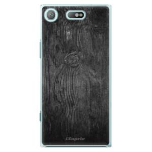 Plastové pouzdro iSaprio black Wood 13 na mobil Sony Xperia XZ1 Compact