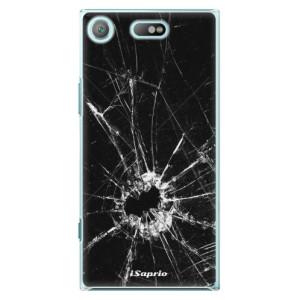 Plastové pouzdro iSaprio Broken Glass 10 na mobil Sony Xperia XZ1 Compact