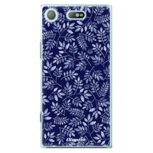 Plastové pouzdro iSaprio Blue Leaves 05 na mobil Sony Xperia XZ1 Compact
