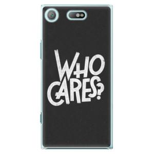 Plastové pouzdro iSaprio Who Cares na mobil Sony Xperia XZ1 Compact