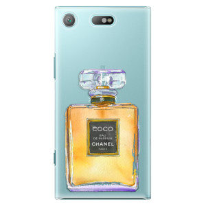 Plastové pouzdro iSaprio Chanel Gold na mobil Sony Xperia XZ1 Compact