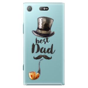 Plastové pouzdro iSaprio Best Dad na mobil Sony Xperia XZ1 Compact