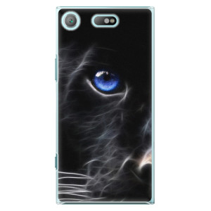 Plastové pouzdro iSaprio black Puma na mobil Sony Xperia XZ1 Compact