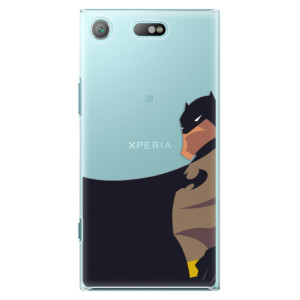 Plastové pouzdro iSaprio BaT Comics na mobil Sony Xperia XZ1 Compact