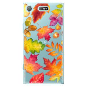 Plastové pouzdro iSaprio Autumn Leaves 01 na mobil Sony Xperia XZ1 Compact