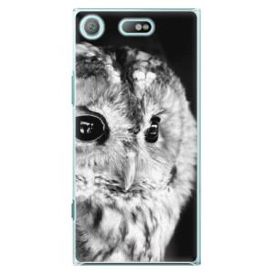 Plastové pouzdro iSaprio BW Sova na mobil Sony Xperia XZ1 Compact