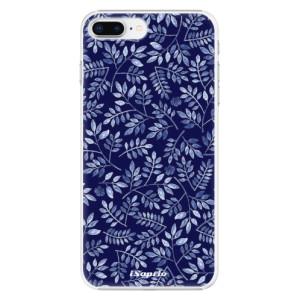 Plastové pouzdro iSaprio Blue Leaves 05 na mobil Apple iPhone 8 Plus