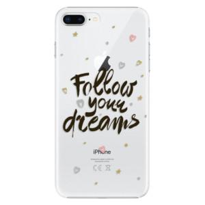 Plastové pouzdro iSaprio Follow Your Dreams černý na mobil Apple iPhone 8 Plus