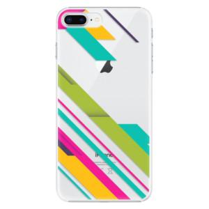 Plastové pouzdro iSaprio Barevné Pruhy 03 na mobil Apple iPhone 8 Plus