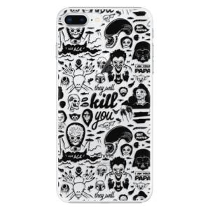 Plastové pouzdro iSaprio Komiks 01 black na mobil Apple iPhone 8 Plus